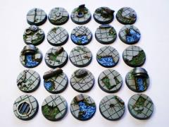 Waterworks - 25mm Round Bases, Complete Set