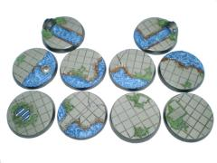 Waterworks - 40mm Round Bases, Complete Set