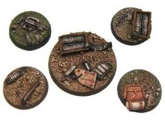28mm Round Modern Battle Bases (5)