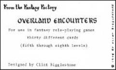 Overland Encounters Cards (5th-8th Levels)