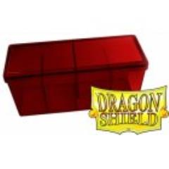 Four Compartment Box - Red