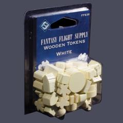Wooden Tokens - White