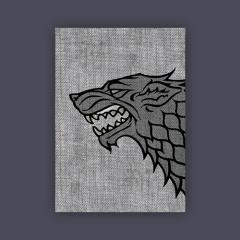Card Sleeves - Standard CCG Size, House Stark (50)