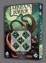 Arkham Horror Dice Set - Black w/Green (5)