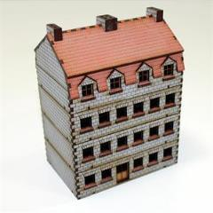 Bank/Apartments w/Ashlar Stone Walls (Pre-Painted)