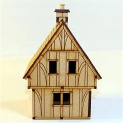 Silhouette Cut - Timber Framed Cottage (Unpainted)