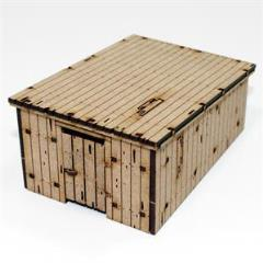 Wooden Outhouse/Storage Shed - Damageable (Unpainted)