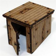 Wooden Outhouse - Damageable (Unpainted)