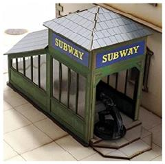 Downtown Subway Entrance (Pre-Painted)