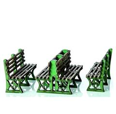 Iron Frame Benches - Green (Pre-Painted)