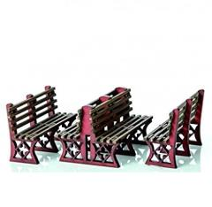 Iron Frame Benches - Red (Pre-Painted)