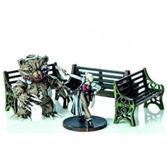 Ornate Benches - Green (Pre-Painted)