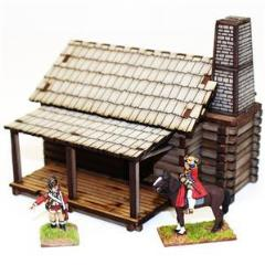 New England Settler's Cabin (Pre-Painted)