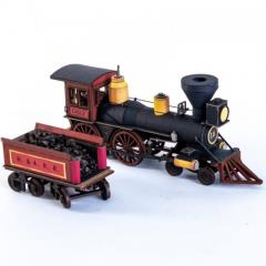 19th C. American Steam Locomotive - Red (Pre-Painted)