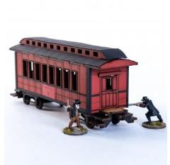 19th C. American Passenger Car (Red) (Pre-Painted)