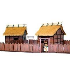 Village Wooden Gates w/Fences (Pre-Painted)