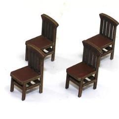 Bannister Back Chair A - Medium Wood