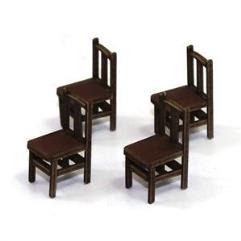 Bannister Back Chair B - Medium Wood