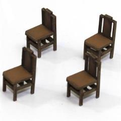 Square Back Chair B - Light Wood