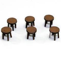 Four Legged Stool - Light Wood