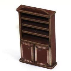Book Shelf Cupboard - Medium Wood