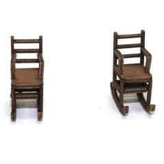 Ladder Back Rocking Chair - Light Wood