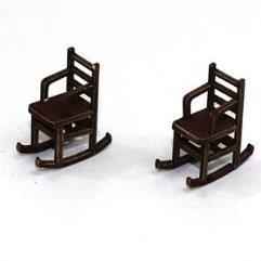 Ladder Back Rocking Chair - Medium Wood