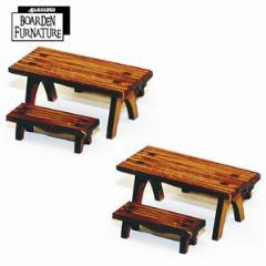 Trestle Tables w/Benches - Light Wood
