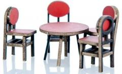 Red Table & 4 Chairs (Pre-Painted)