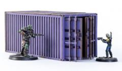 Shipping Container - Purple (Pre-Painted)