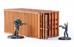 Shipping Container - Orange (Pre-Painted)