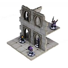Frozen City Ruins - Two-Storey Wall (Pre-Painted)