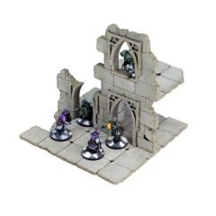 Frozen City Ruins - Two-storey Ruinous Wall (Pre-Painted)