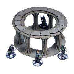 Frozen City Ruins - Round Colonnade (Pre-Painted)
