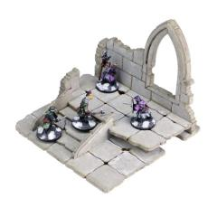 Frozen City Ruins - Raised Platform w/Arched Window (Pre-Painted)