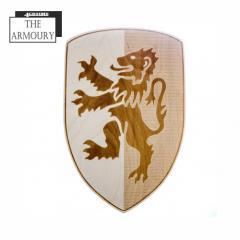 Lion Rampant Etched Shield