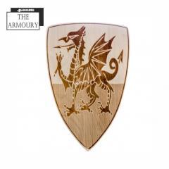 Tudor Welsh Dragon Etched Shield