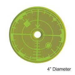 "4"" Blast Template - Green"