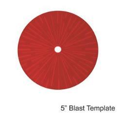 "5"" Blast Template - Red"