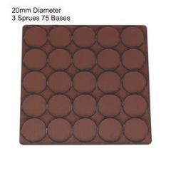 20mm Round Bases - Brown (Primed)
