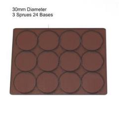 30mm Round Bases - Brown (Primed)