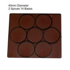 40mm Round Bases - Brown (Primed)