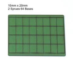 15 x 20mm Rectangle Bases - Green (Primed)