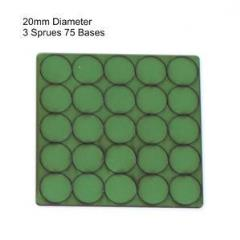 20mm Round Bases - Green (Primed)