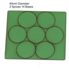 40mm Round Bases - Green (Primed)