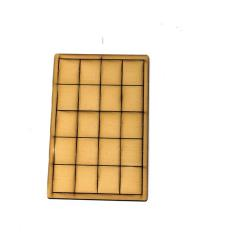 15 x 20mm Rectangle Bases - Tan (Primed)