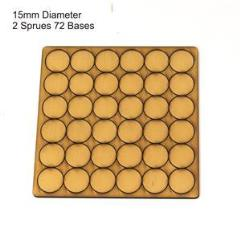 15mm Round Bases - Tan (Primed)