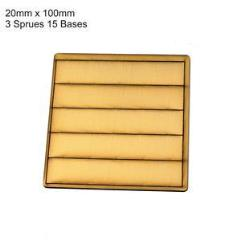 20 x 100mm Rectangle Bases - Tan (Primed)