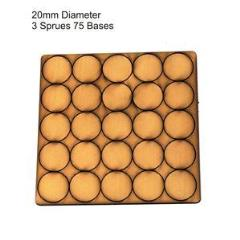 20mm Round Bases - Tan (Primed)