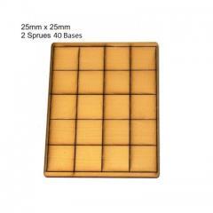 25mm Square Bases - Tan (Primed)